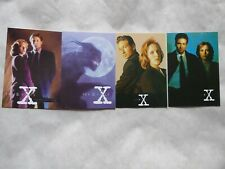 X-FILES  4  POSTCARDS - MULDER AND SCULLY