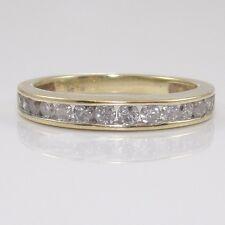 10K Yellow Gold 0.50ctw Natural Diamond Wedding Band Ring Size 7.5 ZD