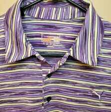 Puma Sport Lifestyle Dry-Cell Multi-Color Polo Shirt Men's Size Large