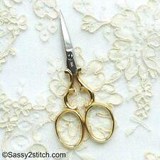 "WASA Solingen 3-1/2"" Sweet Heart Embroidery Scissor-Gold"