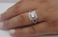 925 STERLING SILVER LADIES DESIGNER RING W/ 3 CTS DIAMOND/SIZE 5,6,7,8,9