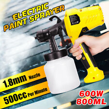 US 600W Electric Spray Gun Paint For Cars Home Wood Furniture Wall Sprayer 110V