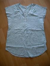 Esprit wunderschöne Chiffon Bluse Gr. 34 / XS türkis / weiß mit Blumen  ° NEU °