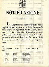 R693-TOSCANA-GUARDIA CIVICA QUARTIERE S.CROCE 1847