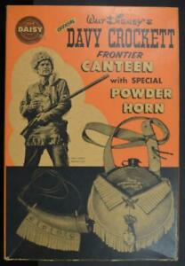 Disney by Daisy, Davy Crockett Frontier Canteen & Powder Horn in Original Box