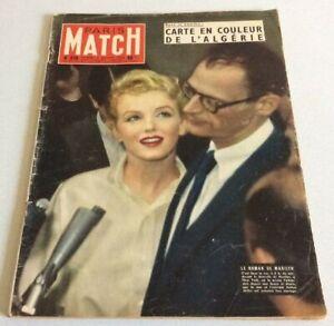 Paris Match N°378 juillet 1956 Marilyn Monroe Audrey Hepburn & Fred Astaire