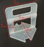 Zuglaschen Fliesen Nivelliersystem 1 1,5 2 2,5 3 mm Verlegehilfe Plan System