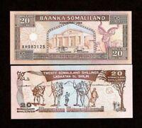 UNC Somaliland Banknote P5b 100 Shillings 1996 lot of 5
