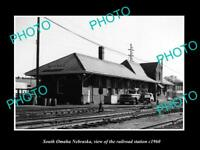 OLD 8x6 HISTORIC PHOTO OF SOUTH OMAHA NEBRASKA THE RAILROAD STATION c1960