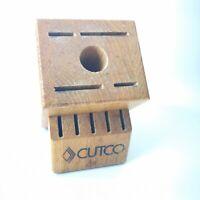 Cutco Homemaker 10 Slots  Knife Block Cherry FinishMade In USA