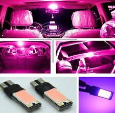 2Pcs Lamp Purple Pink DC 12V Car Fog Light Interior Bulb T10 COB W5W LED