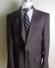 Pierre Balmain Mens Houndstooth Tweed Black Brown Blazer Sport Coat Jacket 42R