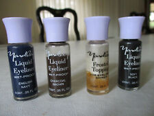 Vintage Yardley Of London Liquid Eyeliner Lot 4 Navy Brown Black Frosted Topping