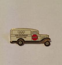 1996 Atlanta Olympic Coca-Cola Moscow 1980 Truck Moving Wheels Pin Badge