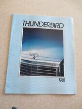 1981 Ford Thunderbird cars advertising booklet