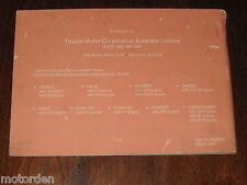 Toyota LITEACE HILUX TARAGO LAND CRUISER 1991 Service Manual Australia FREE POST