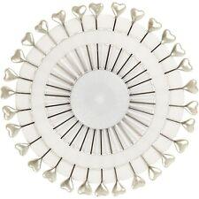 PERNI di decorazione-forma a cuore-Bianco Motif Craft DECORARE Sew Confezione di 60 REGALO