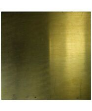 BRASS SHEET 18 gauge 6 x 6 inch 1.02mm THICK