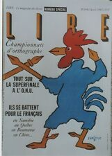 """""""LIRE - Le Magazine des Livres"""" Affiche originale entoilée SAVIGNAC 44x64cm"""