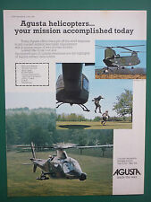 5/1978 PUB HELICOPTERE AGUSTA A109 HUBSCHRAUBER ORIGINAL HELICOPTER AD