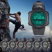 Waterproof Mens Digital Stopwatch Light Date Alarm LED Military Sports Watch New