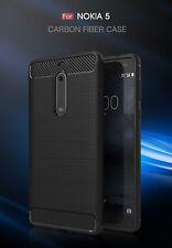 Handy Hülle für Nokia 5 Case Schale TPU dünn schwarz + Armour 2.Haut Nokia5