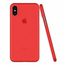 Luxury Red Apple iphone X Case New Worlds Thinnest Semi Transparent Shock Proof