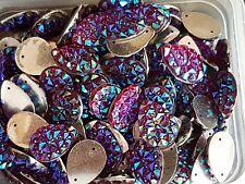 Red siam ab Sew On Stitch Jewel 18mm GEM CRYSTAL RHINESTONE trim Bead