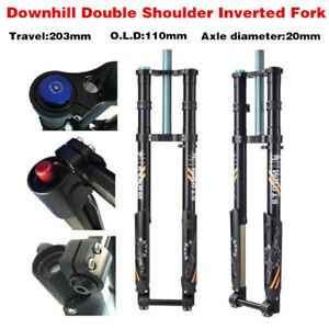 """27.5"""" Downhill Double Shoulder Inverted Fork  Oil Spring Fork  Bike Fork 203mm"""