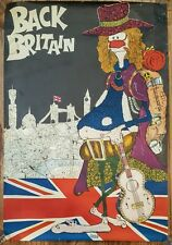 Back Britain Poster Rare From The 1968 Campaign To Promote Buying British Goods