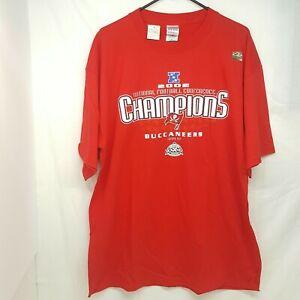 TAMPA BAY BUCCANEERS Bucs NFL SUPER BOWL 37 XXXVII 2002 Red T-shirt - XL NWT