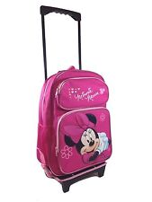 """Disney Minnie Mouse 16"""" Rolling Luggage Travel Backpack Suite Case for Kids"""