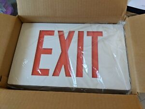 AC LED CAST EXIT 2R WH Emergency sign Red NEW old stock