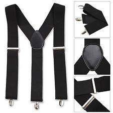 pour hommes 50mm large bretelles réglables élastique Uni couleurs classique