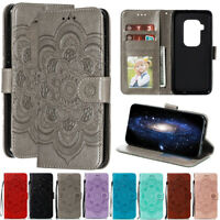 For Motorola Moto One Pro P40 Z4 Sunflower Wallet Flip Leather Phone Case Cover