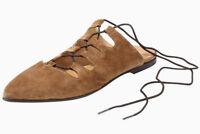 HEINE DAMEN BALLERINA Halbschuhe Echt Leder Braun Schuhe aus Veloursleder NEU 37