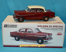 1:18 Classic Carlectible 1956 Holden FE Special - Cascade White Over Etna Maroon