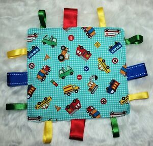 Baby Taggie | Taggy | Soft Toy | Sensory Blanket | Gift | Minky |  Transport