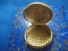 Rare Pilulier Vintage Or Gold 18k 750 Poinçon Tête Aigle 16,69g