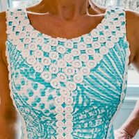 Lilly Pulitzer MacFarlane Lace Detail Shift Dress Shorely Blue Size 0