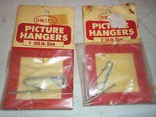 2 Bnip Picture Hangers Umsco 1/ 100Lb & 2/ 50Lb Hooks Nos #803