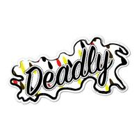 Deadly Aboriginal Style Sticker Aussie Car Flag 4x4 Funny Ute