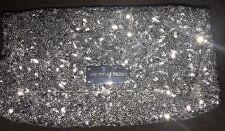 Victoria's Secret Silver Sequin Evening Bag, Clutch, Purse~Nice