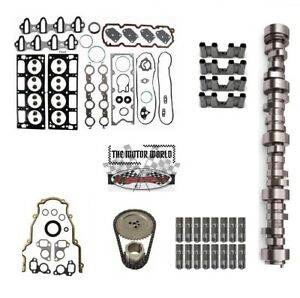 2002 - 2006 GMC Chevrolet  4.8 5.3 camshaft, lifters, Gaskets, Chain, Trays