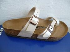 Birkenstock Mayari Pantolette Sandale Graceful Pearl White 71661 NEU