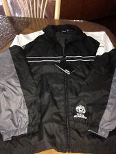 Reebok Black Gray White  Windbreaker  - Full Zip Jacket Men's  XL  logo