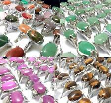 100x TOP mix Men Women Nature Stone Charm Rings Ladies Rhinestone Elegant Rings