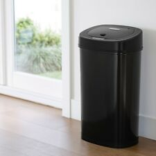 Trash Cans For Kitchen Garbage Can With Lid Automatic Touchless Metal Black Slim
