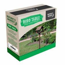 DELUXE BIRD TABLE GARDEN WILD BIRD CARE FEEDING SEEDS STATION STANDING NEW