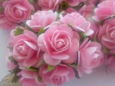 """100! Large Handmade Mulberry Paper Roses - 20mm/0.75"""" - Lovely Pale Pink Rose!"""